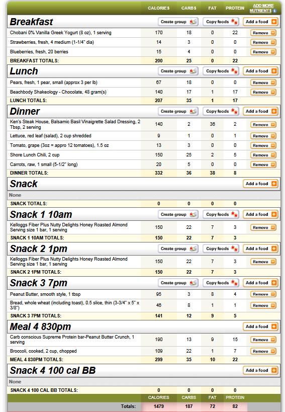 30-Day Shred Diet Menu