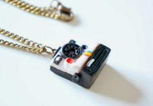 Hand Sculpted Vintage Camera Necklace by The Little Matters