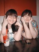好久不見的姐妹xD 這張把我們都拍的好白呀 我稀飯♥
