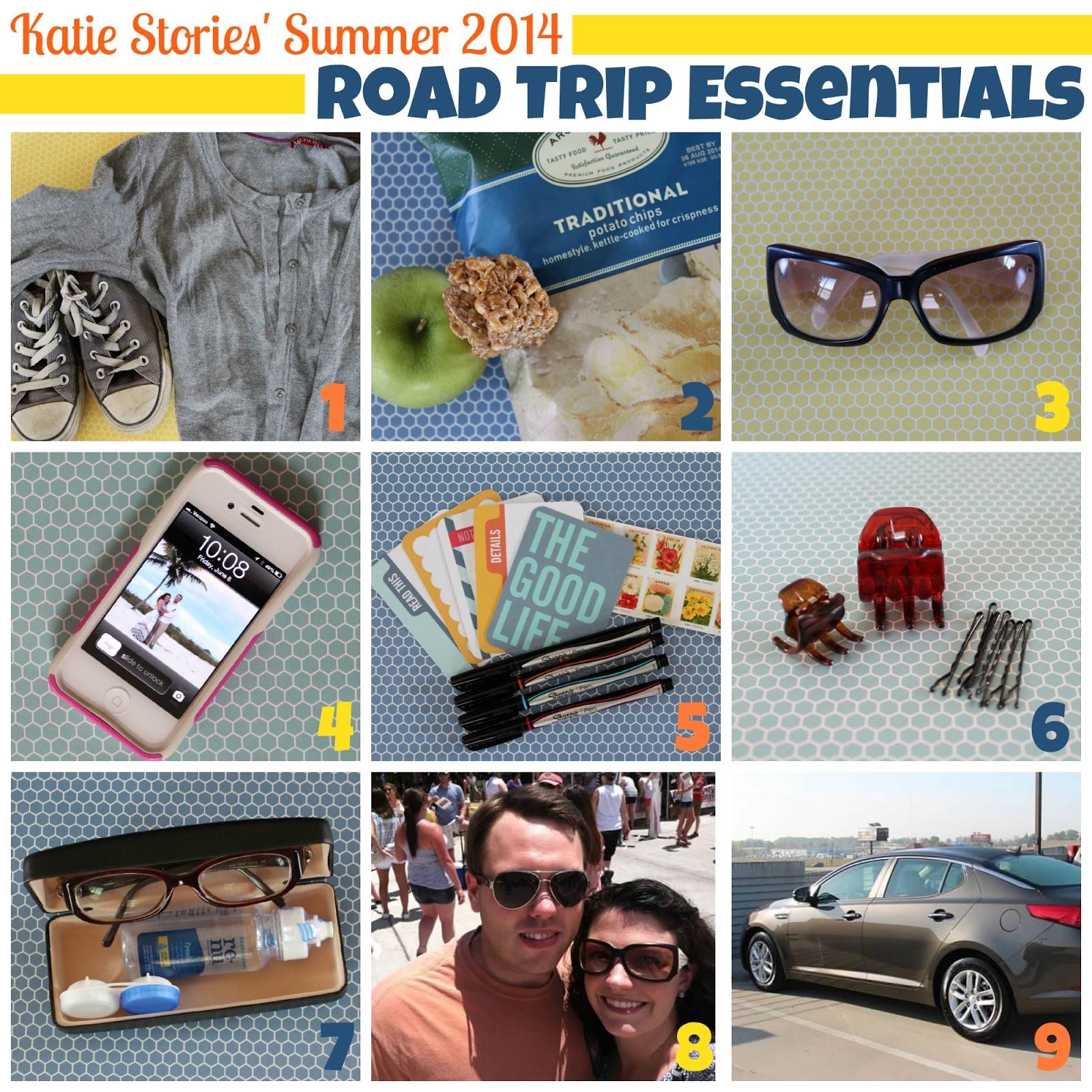 How to scrapbook a road trip - Road Trip Essentials Summer List 2014