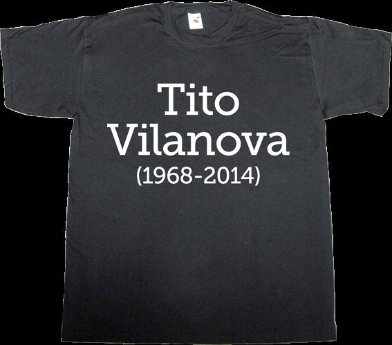 fc Barcelona tito vilanova Pep Guardiola t-shirt ephemeral-t-shirts