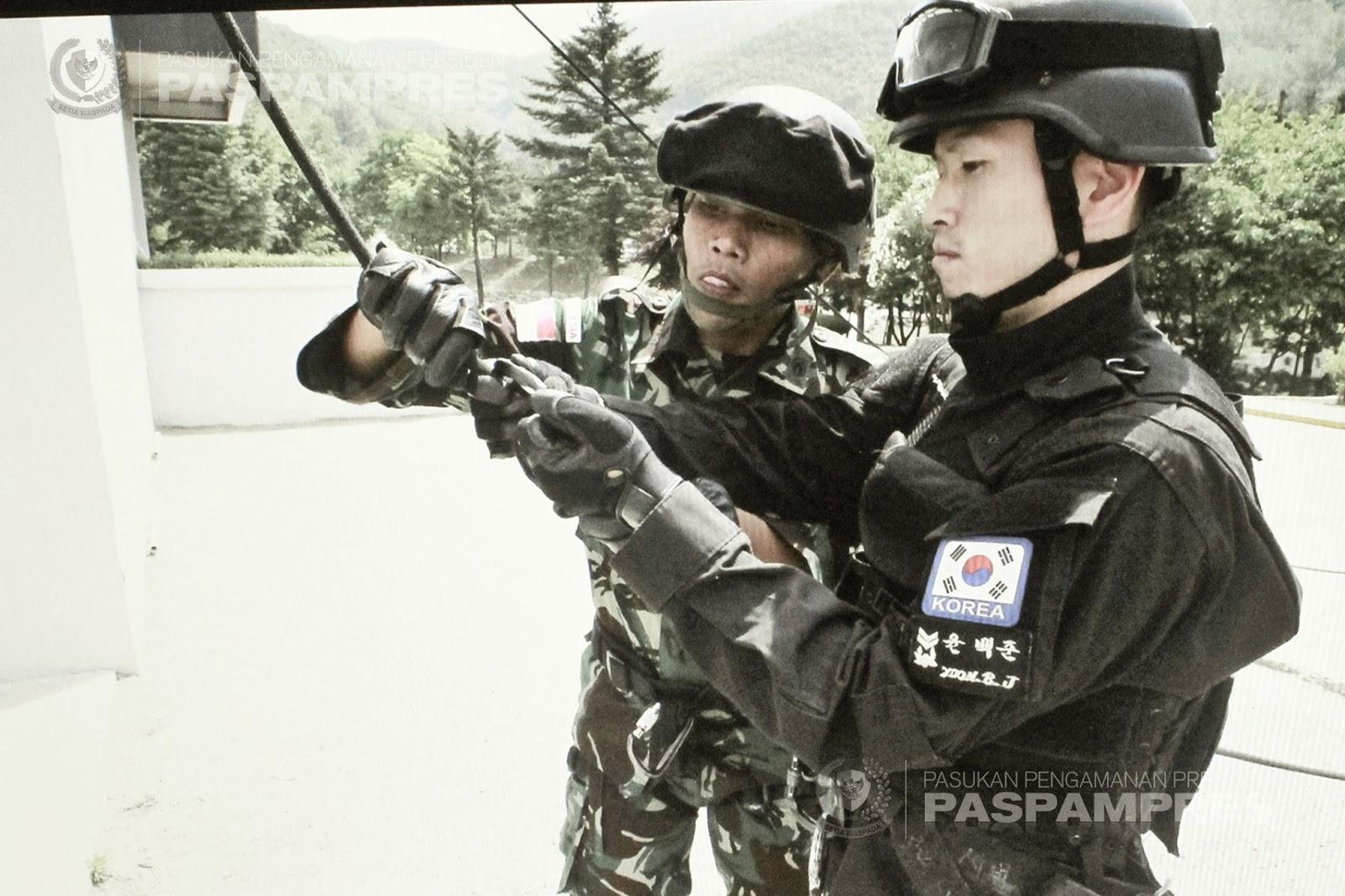 Paspampres Ikuti Latihan Bersama Penanggulangan Teror di Korea Selatan