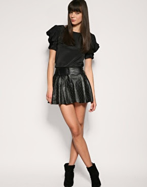 Leather Short Skirt