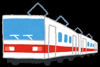 電車のイラスト「赤ライン」