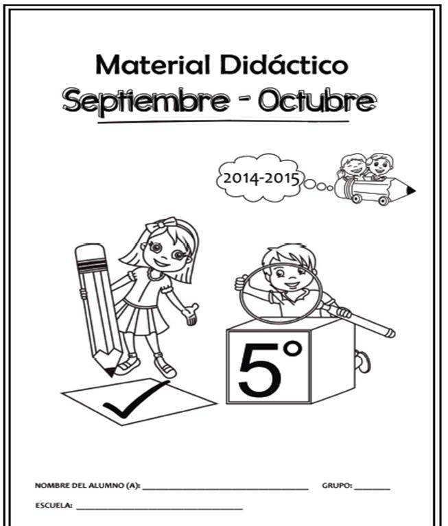 Cuadernillo de Apoyo Didáctico para Quinto Grado 2014 - 2015