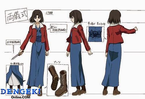 Ryogi Shiki reference pictures Kara no Kyoukai