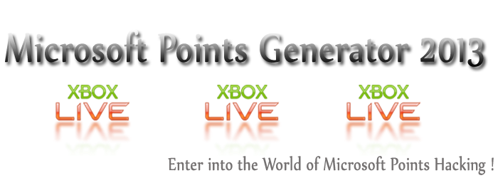Microsoft Point Generator