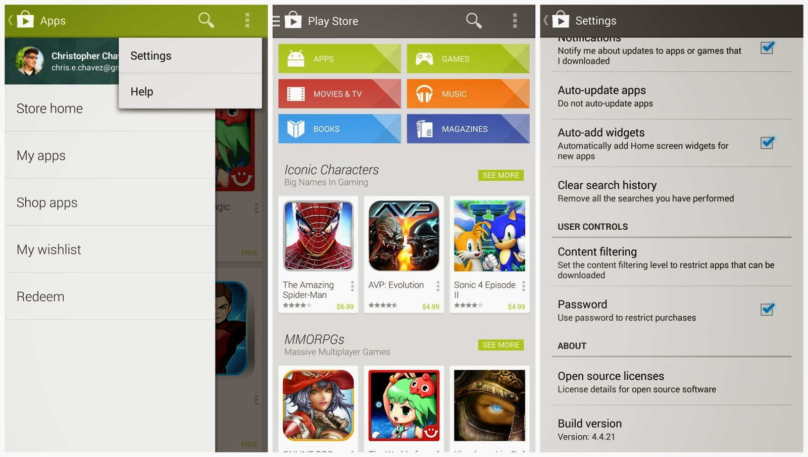 Preview Google Play Store | Andromin