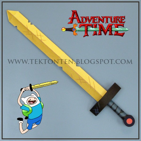 Finn's Golden Sword of Battle Papercraft