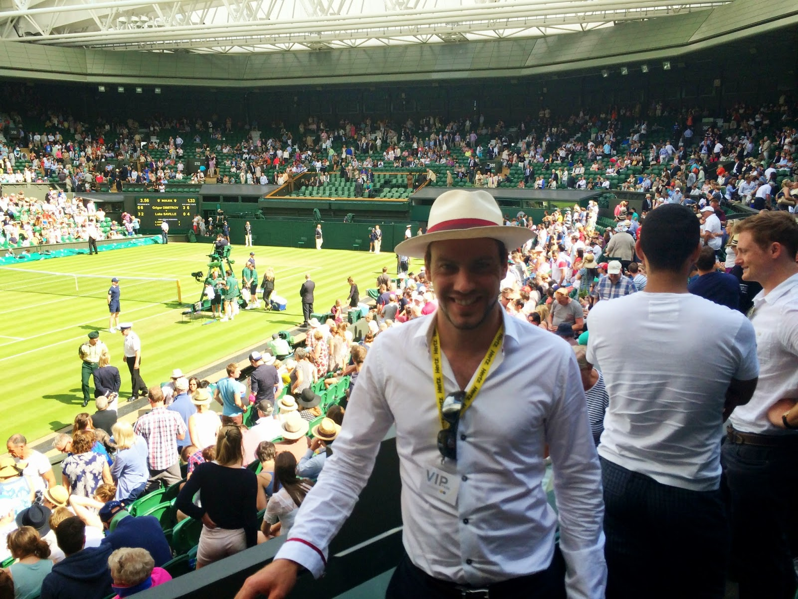 Simon on Centre Court at Wimbledon, 2014