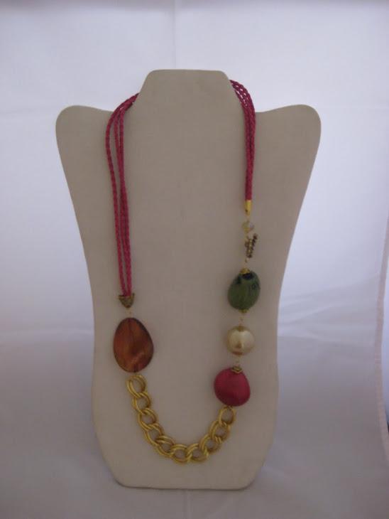C06115- Collar Cordón, Piedras varias