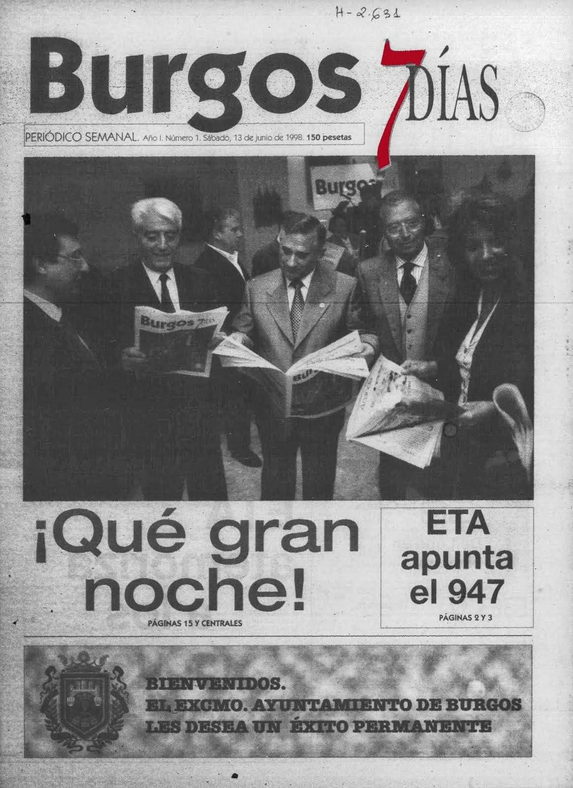 portada nº1 Burgos 7 Dias