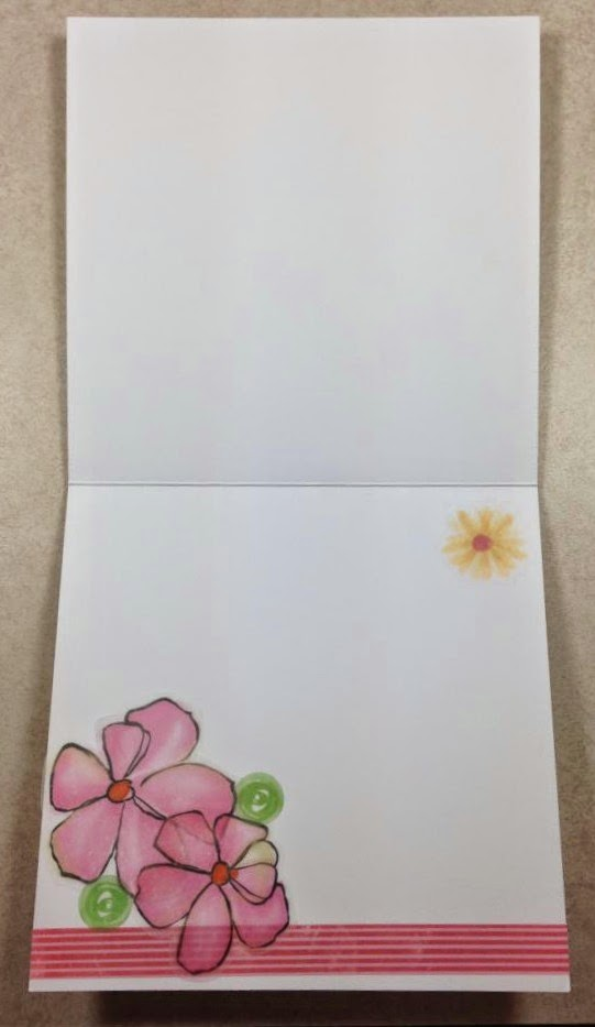 Cricut Handbag Lovely Day card inside