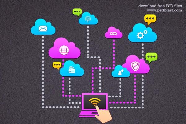 Cloud Computing Icon PSD