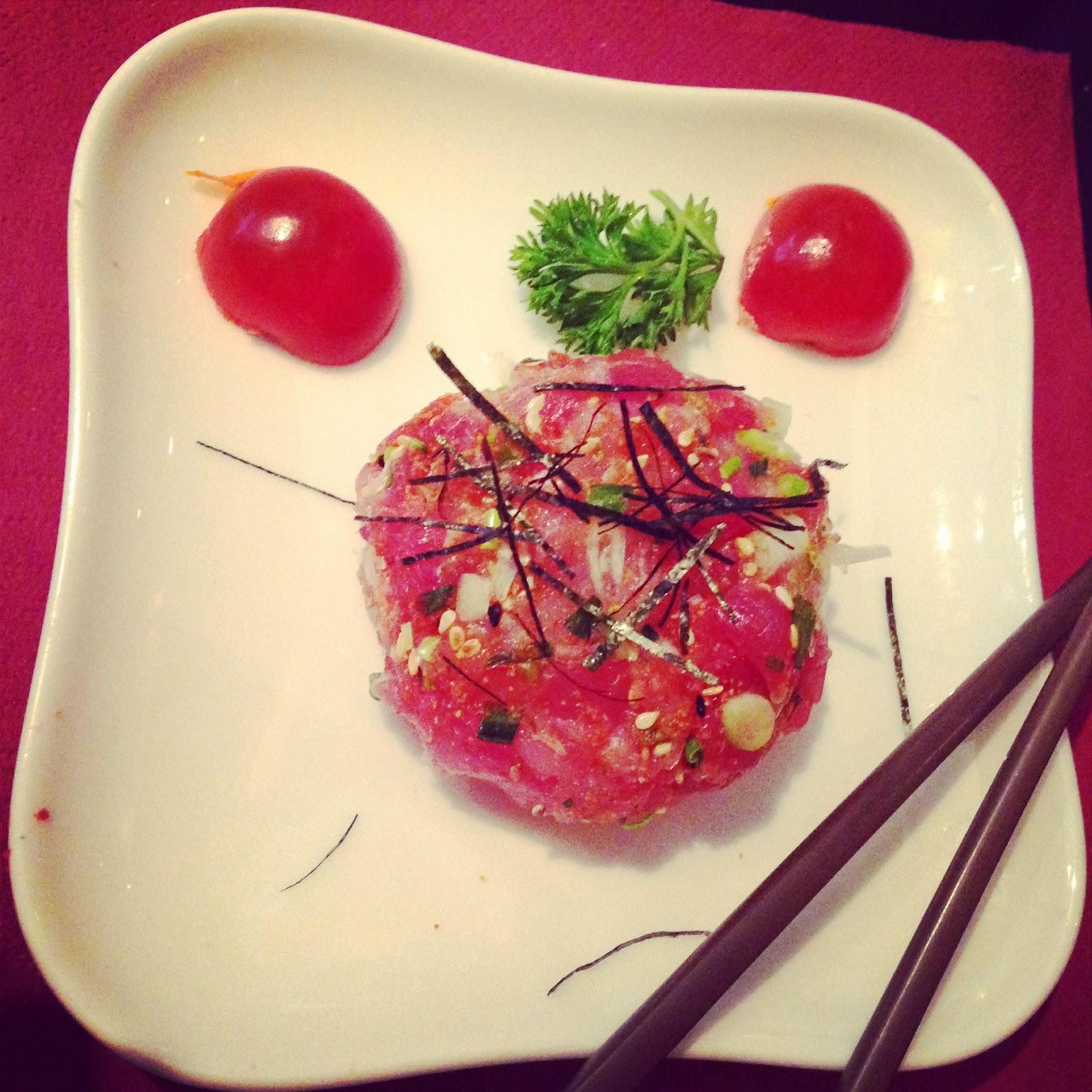 Maguro No Tataki (petit tartare de thon légèrement épicé)