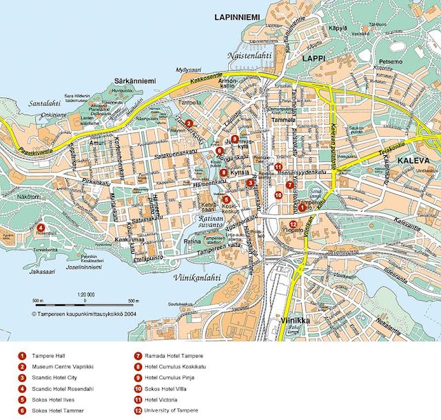 Карта фінляндії