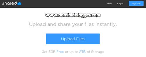 aloja tus archivos gratis en Shared