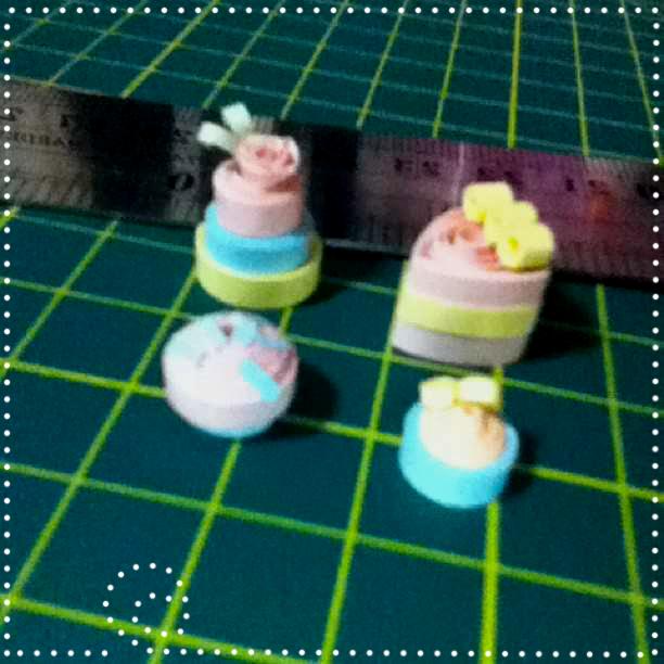 Paper Miniature Cakes