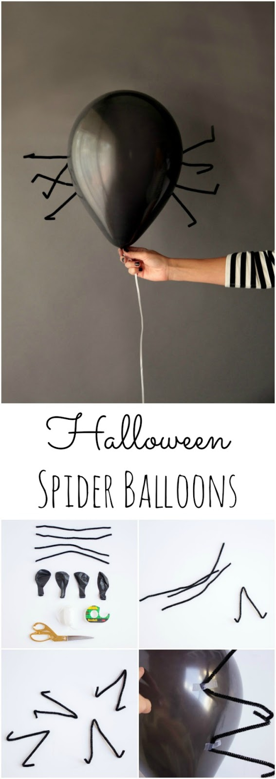 Creepy crawly Halloween spider balloons! || Design Improvised blog