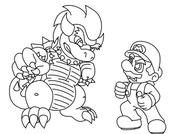 coloring pages online download free printable super mario coloring  title=