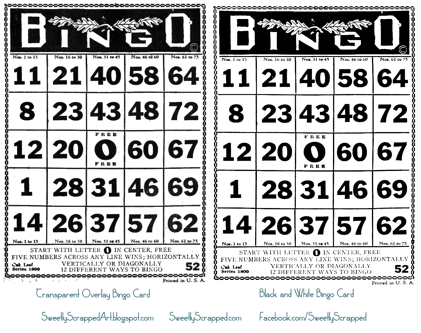printable bingo cards.