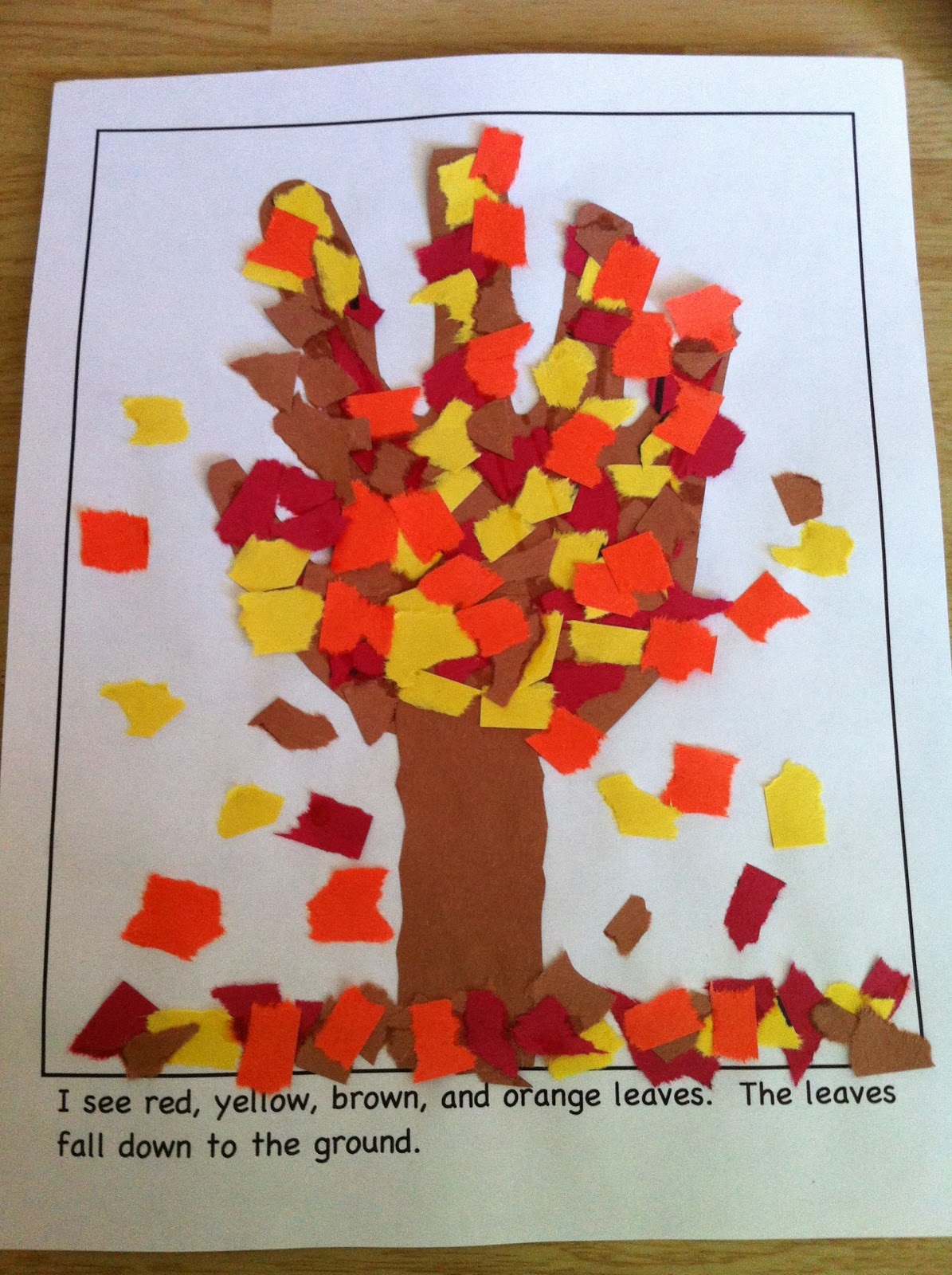 beautiful Fall Craft Preschool Part - 17: My Fall Season Activities u0026 Fall Craft Book