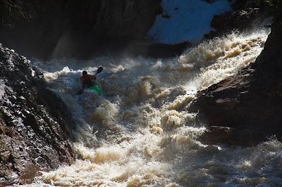Ben Kinsella, coming out of the mist of Under the Log, minnesota, Chris Baer, split rock river,