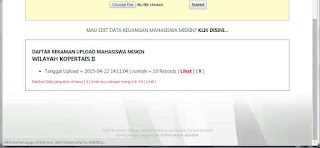 edit data/rekening mahasiswa miskin