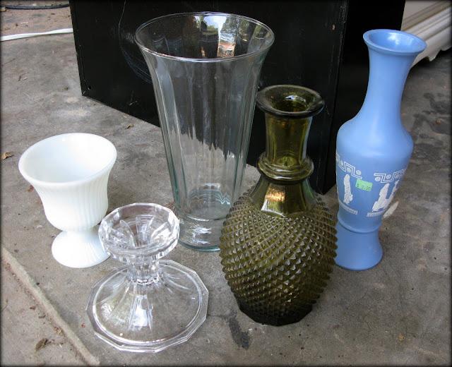 Janey Mac Spray Painted Glass Vases Diy