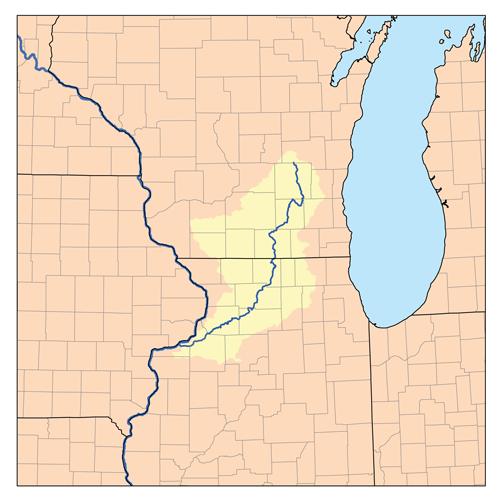 Rock River region map