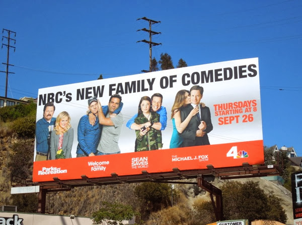 NBC family of comedies Fall 2013 billboard