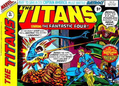 Marvel UK, the Titans #51, the Fantastic Four