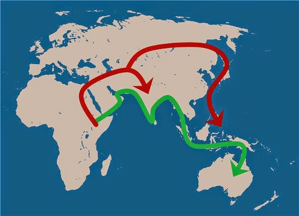 Migrasi Eurasia, Nenek Moyang Asia