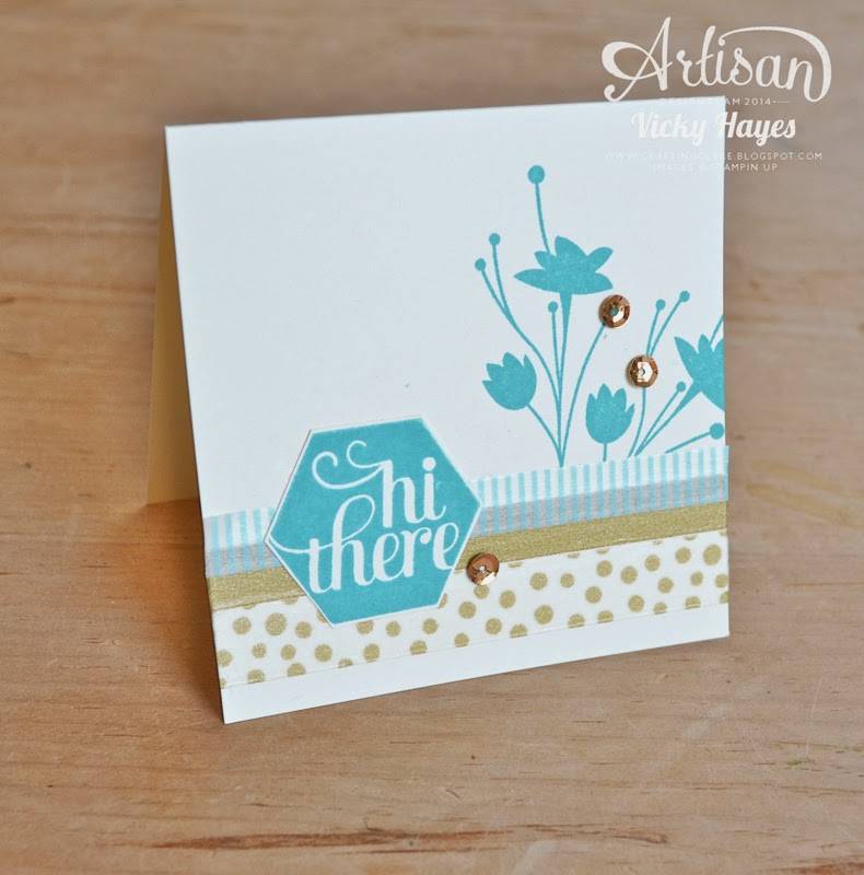 Hexagon idea using A Happy Hooray by Stampin' Up, available to buy online