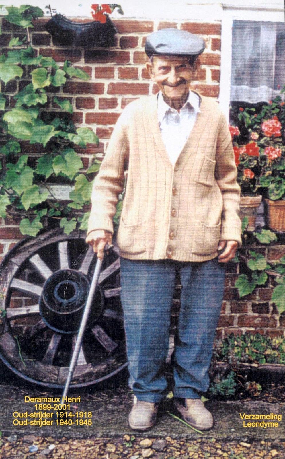 Oud-strijder Henri Deramaux 1899-2001. Verzameling Leondyme.