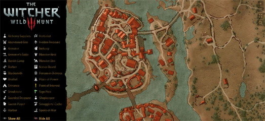 Maps Mania: The Witcher III Leaflet Map