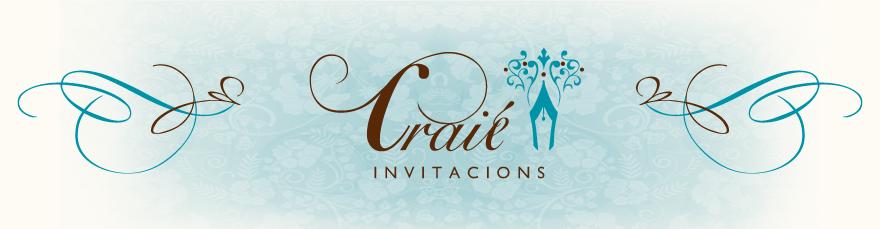Craie Invitacions - Noces - Bateig - Cerimònies - XV anys