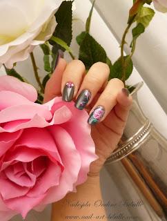 Nail art Zhostovo - Fleur fanée !!