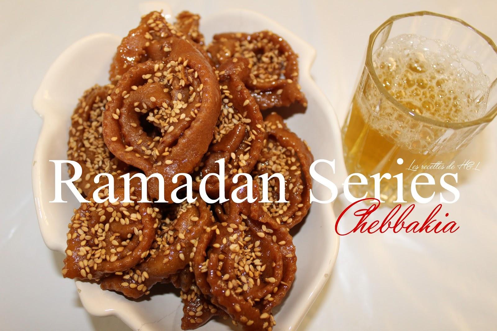 Recette marocaine  Chebbakia / Gâteau marocain au miel et sésame , Ramadan  series