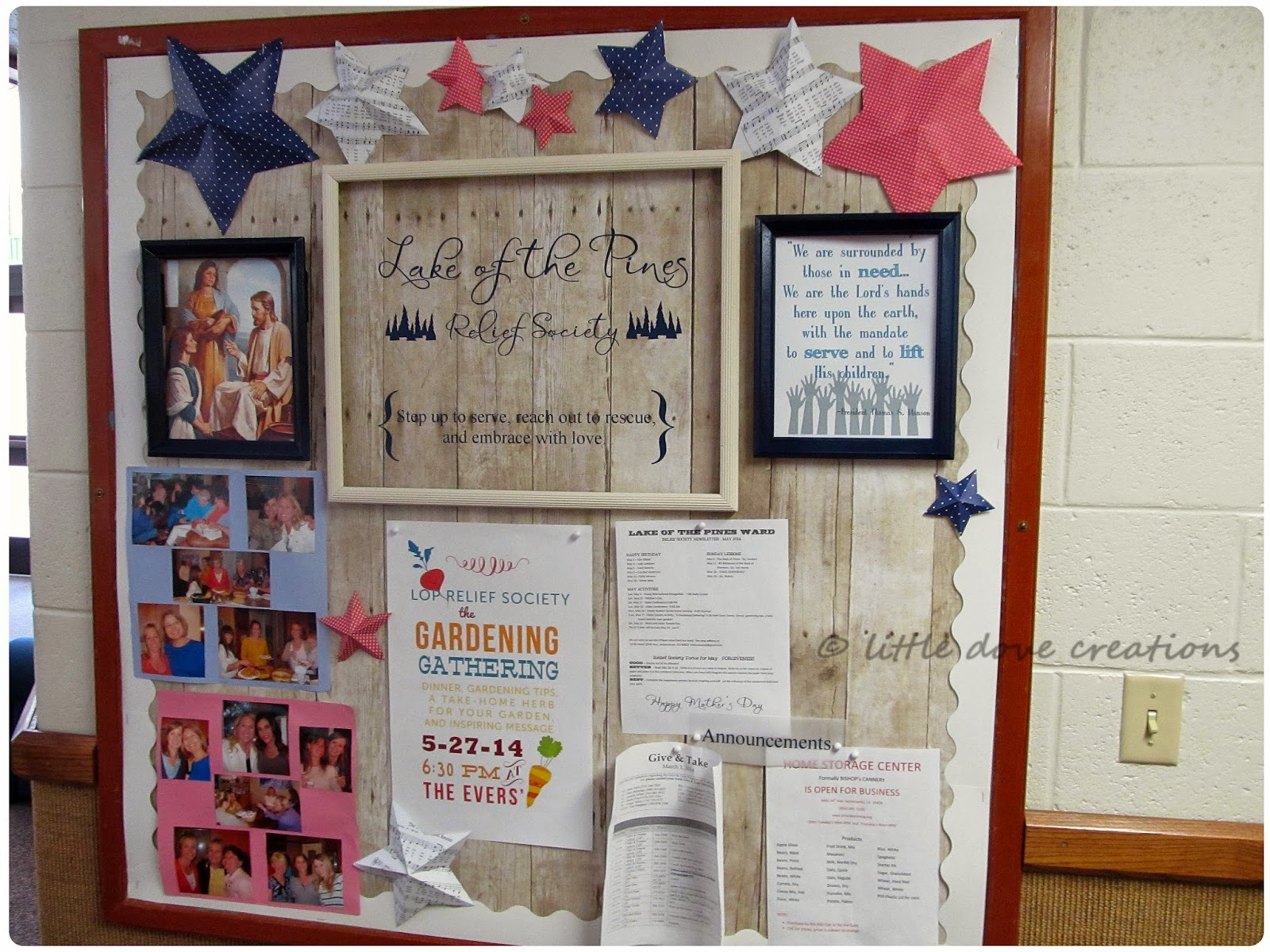 ... Dove Creations: summertime relief society bulletin board & june