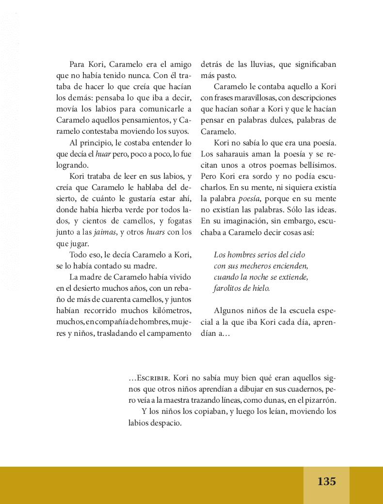 Palabras de caramelo - Español Lecturas 6to 2014-2015