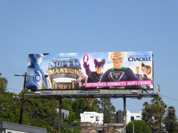 Super Mansion series premiere billboard
