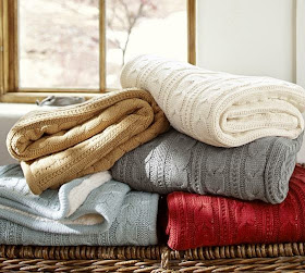 Eye For Design Decorating With Cable Knit Sweater Accents