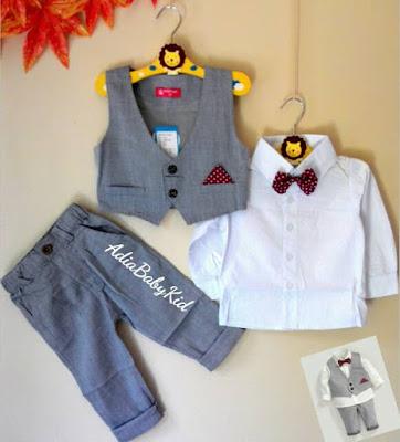 Baju Pesta Anak Laki Laki Rompi Dasi Kupu - Kupu
