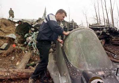 Destroços do Mig-29 iugoslavo.