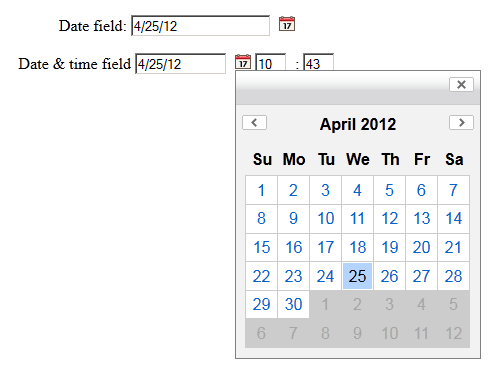 datepicker icon