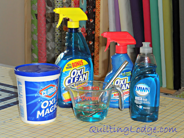 Stain Removers for grease marks on Quilt
