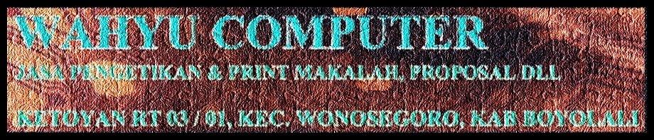Wahyu Computer | Jasa penulisan artikel murah