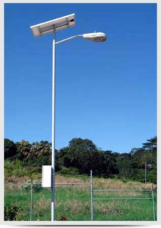Everblue postes solares led for Luz solar para exterior