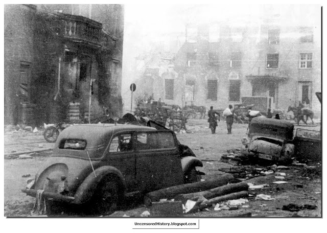 War ravaged Koenigsburg  April 1945 after  encircled Germans finally surrendered